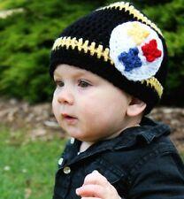 Crochet Baby Hat Pittsbugh Steelers Inspired - M (1 - 6 years)