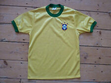 "Rare brésil soccer jersey medium 38/40"" umbro 1979-1980 home football shirt"