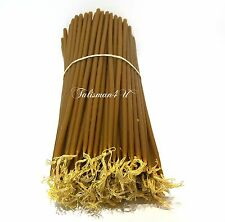 "50 CHURCH BEESWAX CANDLES 11"" Natural Wax Jerusalem Holy Candle Церковные Свечи"