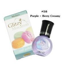 Mistine Glitzy Macaron Nail Polish # 58 Purple - Berry Creamy 1 Piece 5.5ml