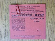 25/03/1989 Ticket: Rugby Union - Pilkington Cup Semi-Final - Gloucester v Bath