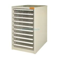 Ten Drawer filing Cabinet - A4 plus papers - Metal Case