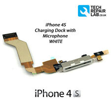 NEW Replacement iPhone 4S Charging Dock/Port Assembly with Microphone - WHITE