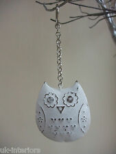 Vintage Hanging OWL Metal Shabby Chic Key Ring Decoration