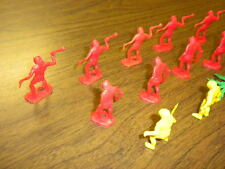 11 CAVEMEN/CAVE MEN red & yellow 1 1/2 - 2 inches MARX/MPC? LOT dinosaurs