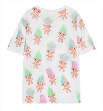 Harajuku Womens Troll Doll T-shirt  Printed Loose Short Sleeve Cool Trolls Dam