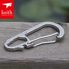 Keith Titanium Outdoor Camp Multifunction Tool Carabiner Spanner Meter Spoke Key