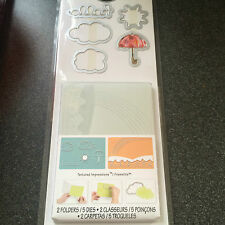 Sizzix Hello Rainbow Set 5 muore 2 embossing folders Ombrello SOLE NUVOLE