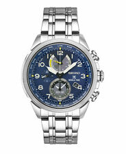 New Seiko SSC507 Prospex World Time Solar Chronograph Stainless Steel Mens Watch