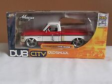 DUB CITY OLDSKOOL 1972 CHEVY CHEYENNE PICK UP TRUCK RED / WHITE 1:24 SCALE