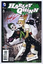 Harley Quinn #19 Signed w/COA by Amanda Conner, Jimmy Palmiotti 2016 VF+