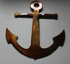 "Anchor copper/bronze plated 12"" tall"