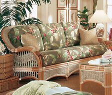 Sea Scape Indoor Wicker and Rattan Sofa from Spice Island Wicker