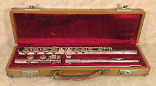 Artley Flute Nickel Plated with Nice Case Elkhart Indiana Serial 26235