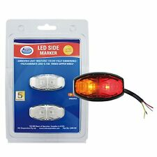 Ark LED SIDE MARKER LAMP 12V/24V, RED & AMBER, Pre-Wired 0.15m Cable *AUST Brand