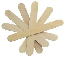 """Cotton Orchid Large Wide Wood Wax Spatula Applicator 6"""" x 3/4"""" 100 pack"""