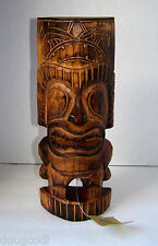 Hand Carved Bali Indonesia Polynesian/Hawaiian Style Wooden Tiki Statue Totem