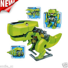DIY Assemble 4 In 1 Educational Solar Robot Drilling Machine Dinosaur Insect Kit