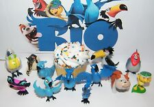 Dreamworks Rio Figure Set of 12 with Blu, Jewel, Nigel and some New Characters