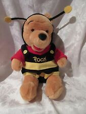"Disney Winnie The Pooh Bear Honeybee Bumble Bee Costume Plush 12"" NWT"