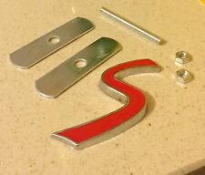 Mini cooper s front grill badge 3D un s sports suralimenté emblème badge rouge