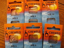Pony Gold Eye Hand Sewing Needles - Crewels Size 7