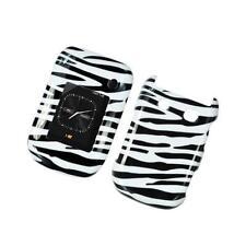 Black & White Zebra Design Snap-On Hard Case Cover for Blackberry Style 9670