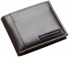NEW TOMMY HILFIGER CAMBRIDGE BROWN LEATHER CREDIT CARD BILLFOLD MEN'S WALLET