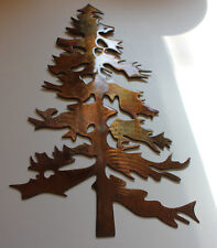 "Outdoor Pine tree 12 ""tall  Metal Wall Art Decor"