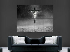 JESUS ON THE CROSS RELIGION   WALL POSTER ART PICTURE PRINT LARGE