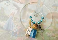 Wine Glass Charm Alice In Wonderland Glass Bottle Birthday Wedding Anniversary