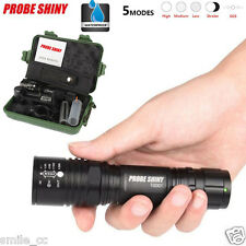 X800 CREE XM-L T6 LED 18650 5 Mode Tactical Zoomable Flashlight Torch Light Lamp