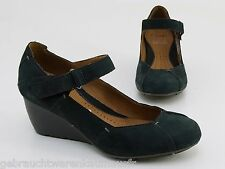 Pumps Clarks active Air Spange Keilabsatz Echtleder anthrazit Gr. 3,5 = 36,5
