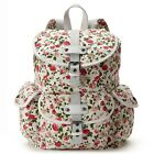 Candie's White Floral Glitter Backpack Shoulder Bag School Bookbag - NWT