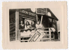PHOTO ANCIENNE Groupe Auron 1947 Sports Photographie Gevaert Publicité Balcon