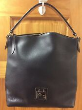 DOONEY & BOURKE BLACK PEBBLED LEATHER PURSE