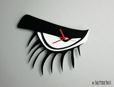 Clockwork Orange Eyelashes Minimalist Film Silhouette - Wall Clock