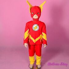 Superhero The Flash Fancy Costume Mask Outfit Halloween Party Toddler 2T-3T #032