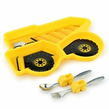 Urban Trend Kids Funwares Me Time Dump Truck Dinner Plate & Utensil Meal Set