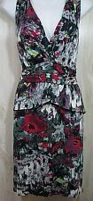 Anthropologie Large Tiered Dress Julienne Weston Ruffled Size L 12 14 Pink Teal