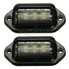 2PCS LED LICENSE PLATE TAG LIGHT BLACK BOAT TRAILER RV TRUCK INTERIOR STEP LIGHT