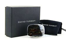 DAVID YURMAN AMAZING EXOTIC STONE BELT BUCKLE TIGER IRON STERLING SILVER NEW # C