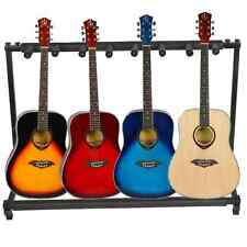 7 Triple Folding Multiple Guitar Bass Holder Rack Stand