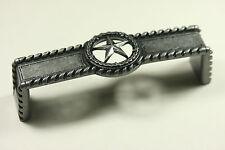 STAR WITH BARBWIRE PULL ANTIQUE SILVER WESTERN CABINET HARDWARE DRAWER PULLS