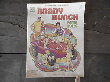 Whitman THE BRADY BUNCH Paper Dolls 1973 incomplete Cut bent pieces missing