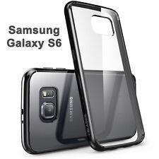 i-Blason Samsung Galaxy S6 Halo Scratch Resistant Hybrid Clear Case Black Bumper