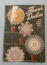 Vintage 1949 Crochet Patterns Flower Doilies Daisy Irish Rose African Violet Pan