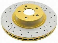 DBA DBA784X Street Gold Cross-Drilled and Slotted Front Vented Disc Brake Rotor