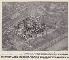 1926  --  SAINT DENIS   USINE POIRRIER SOCIETE MATIERES COLORANTES   3A086