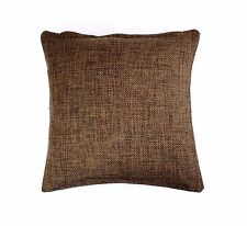 x4 New High Quality KNITTED Cushion Covers 18 x 18 Pillow Case BROWN FREE UK P+P